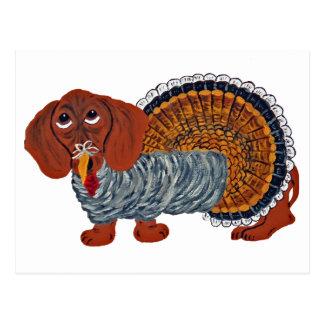 De Thanksgiving Turkije van de tekkel Briefkaart