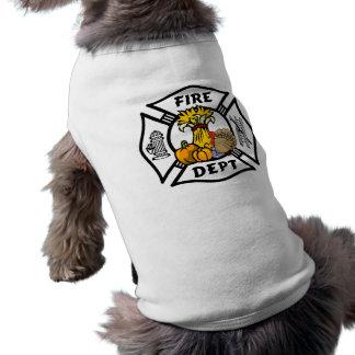 De Thanksgiving van de brandbestrijder Mouwloos Hondenshirt