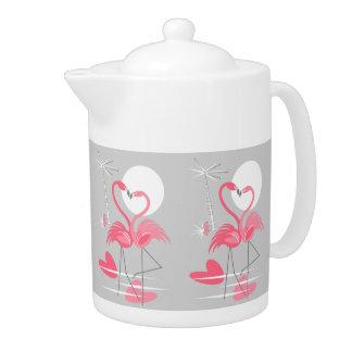 De theepotmiddel van de Liefde van de flamingo