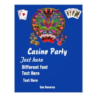 De Thema s van het casino vermommen zich 1 zien Gepersonaliseerde Folder