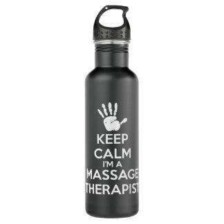 De Therapeut van de massage - houd Kalm Waterfles