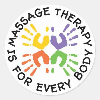 De Therapie van de massage is voor de Stickers van