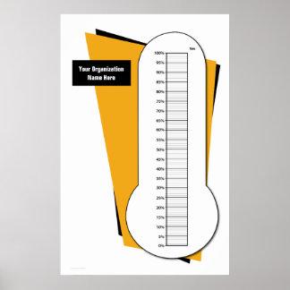 De Thermometer van de liefdadigheidsinstelling doo Poster