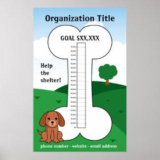 De Thermometer van de Liefdadigheidsinstelling van Poster
