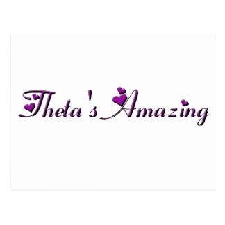 De theta is Verbazend - het Verbazen van de Theta Briefkaart