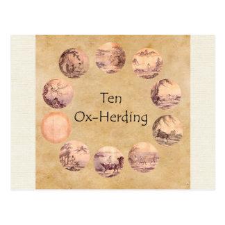 De tien Afbeeldingen Oxherding Briefkaart