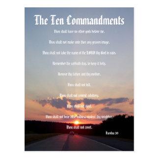De tien Bevelen - het Briefkaart van de