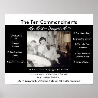 De tien Bevelen Mijn Moeder onderwezen me Poster