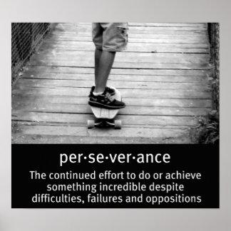 De tiener Longboarding Poster