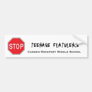 De TienerFlatulentie van het einde Bumpersticker