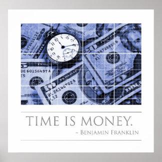 De tijd is Geld - Citaat Franklin Poster
