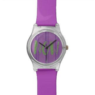 De tijd is nu Horloge Graffiti