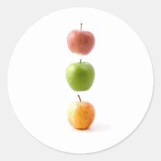 De Tijd van Apple Ronde Stickers