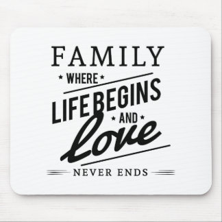 De tijd van de familie muismat