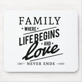 De tijd van de familie muismatten