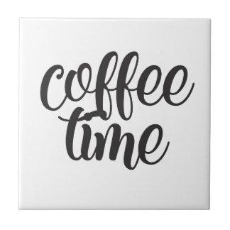 De Tijd van de koffie Keramisch Tegeltje