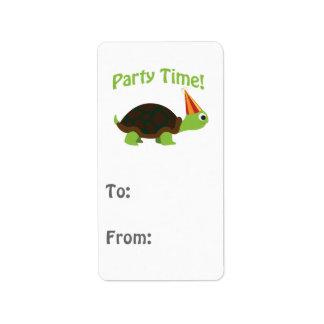 De Tijd van de partij! Schildpad Etiket