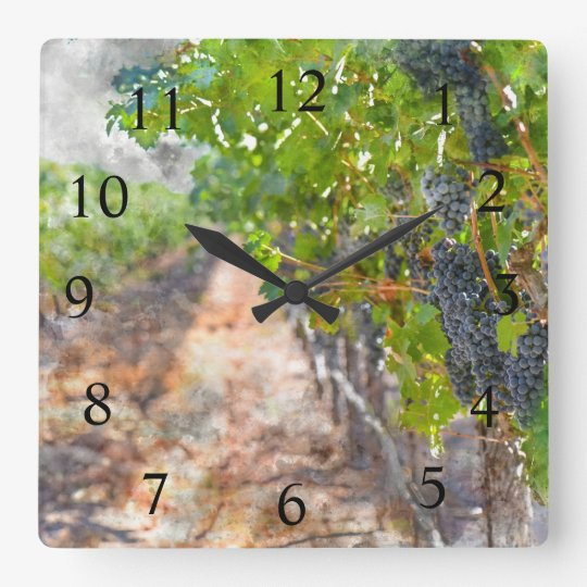 De Tijd van de wijn in Napa Vallei Californië Vierkante Klok