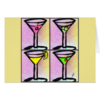 """De """"tijd van martini"""" de Druk van Vier Martini van Briefkaarten 0"""
