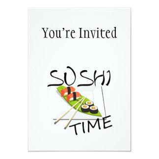 De Tijd van sushi 12,7x17,8 Uitnodiging Kaart