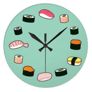 De Tijd van sushi! Funky Klok van de Muur (van de