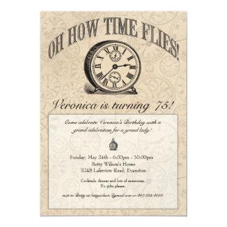 De tijd vliegt de Uitnodiging van de Klok -