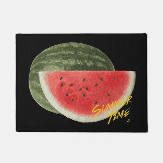 De tijdwatermeloen van de zomer deurmat