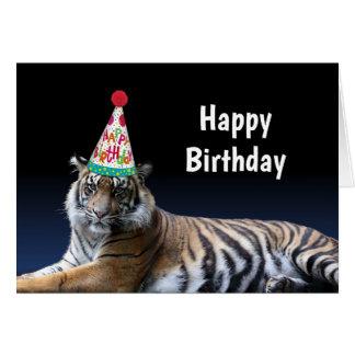 De tijger laten we de Verjaardag van de Partij Briefkaarten 0