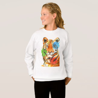 De tijger ploetert trui