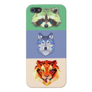 De tijger van de de wasbeerwolf van dieren iPhone 5 covers