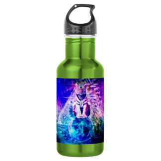De tijger van de melkweg - roze tijger - 3d tijger waterfles