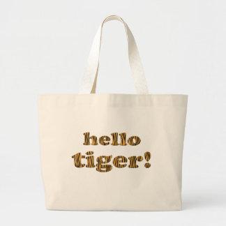 De Tijger van Hello! Het Bolsa van Tigerprint van Grote Draagtas