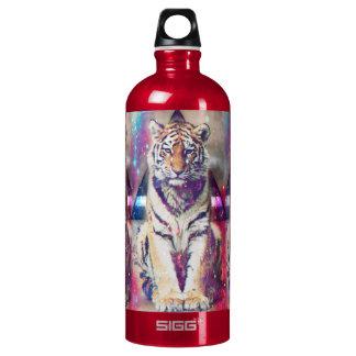 De tijger van Hipster - tijgerkunst - Aluminium Waterfles