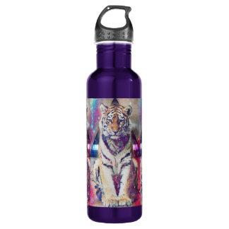 De tijger van Hipster - tijgerkunst - Waterfles