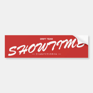 De Tik van Showtime Bumpersticker