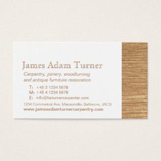 De timmermans houten visitekaartje van het