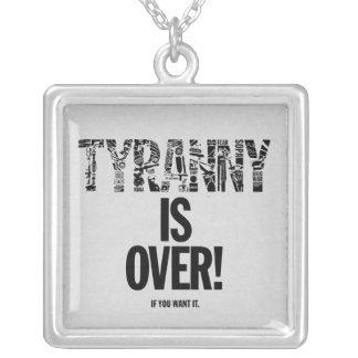 De tirannie is over als u het Vrijheid Ron Paul Zilver Vergulden Ketting