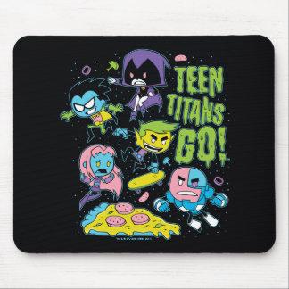De Titanen van de tiener gaan! grafische de Pizza Muismat