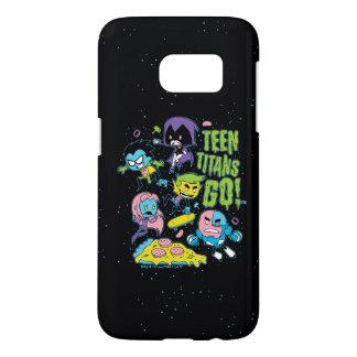 De Titanen van de tiener gaan! grafische de Pizza Samsung Galaxy S7 Hoesje