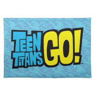 De Titanen van de tiener gaan!   Logo Placemat