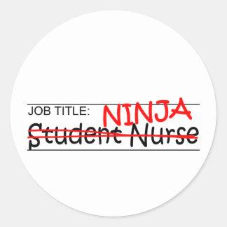 De Titel van de baan Ninja - de Verpleegster van Ronde Sticker