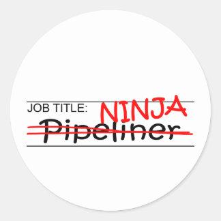 De Titel van de baan Ninja - Pipeliner Ronde Sticker