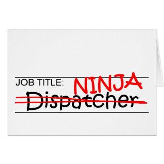 De Titel van de baan Ninja - Verzender Briefkaarten 0