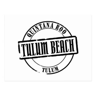 De Titel van het Strand van Tulum Briefkaart