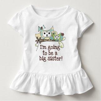 De Toekomstige Grote Zuster van uilen Kinder Shirts