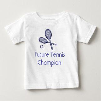 De toekomstige Kampioen van het Tennis Baby T Shirts
