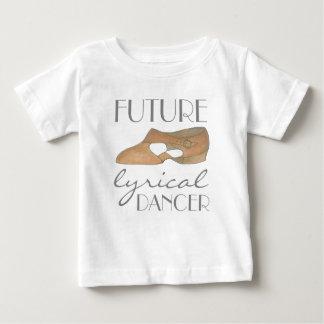 De TOEKOMSTIGE LYRISCHE Tan van de DANSER Schoen Baby T Shirts