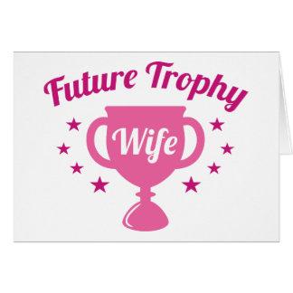 De toekomstige Vrouw van de Trofee Wenskaart