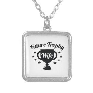 De toekomstige Vrouw van de Trofee Zilver Vergulden Ketting