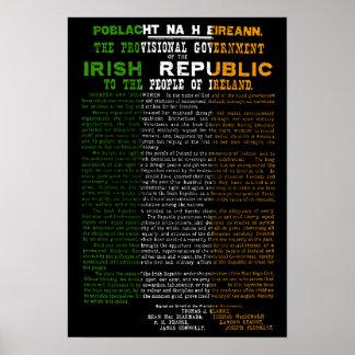 De Toenemende Proclamatie van Pasen van de Ierse Poster